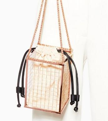 Topshop Cara Cage Cross Body Bag