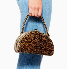 Topshop Betsy Moon Velvet Grab Bag