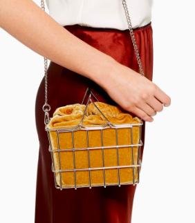 Topshop Mona Metal Basket Grab Bag