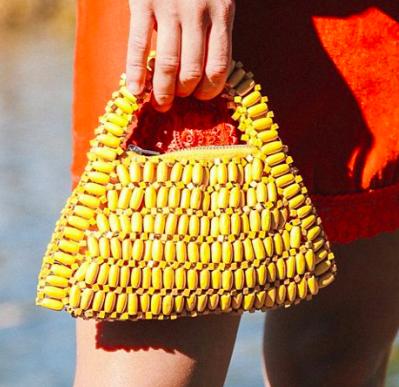 UO Bethany Beaded Handle Bag