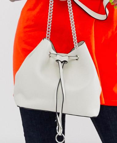 Pull&bear bucket bag in white
