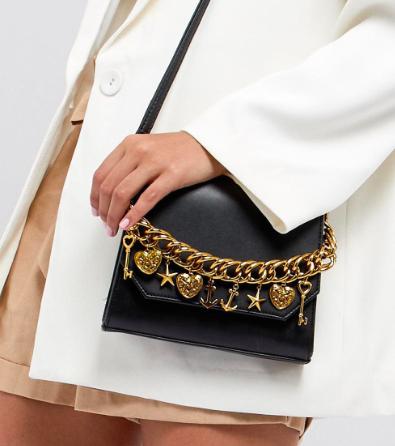 ASOS DESIGN Charm Chain Cross Body Bag