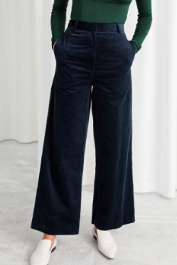 Stories High Waist Wide Corduroy Pants