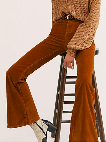 FP Lee Corduroy High-Rise Flares