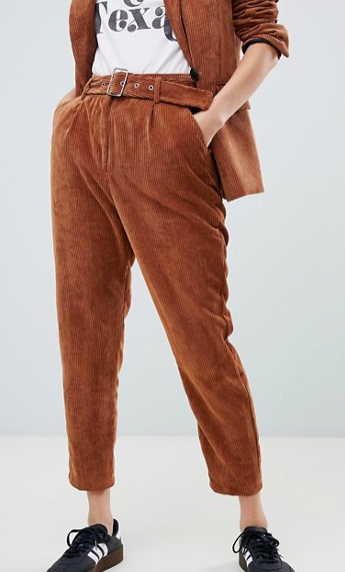 Bershka two-piece cord pants
