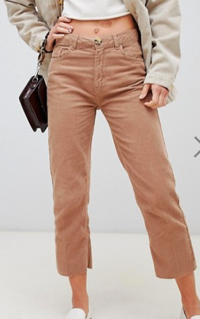 Stradivarius STR cord straight leg pants