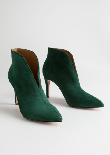 Stories Front Cut Suede Boots