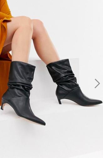 Stradivarius point toe slouch boot