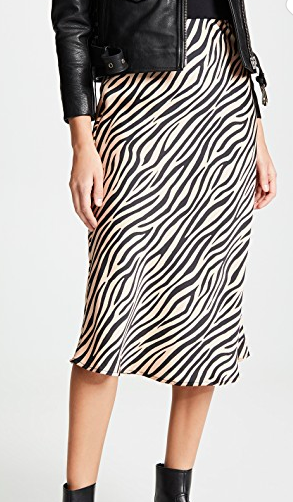 re:named Jully Tiger Midi Skirt