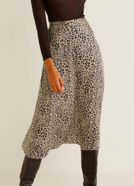 Mango Leopard skirt