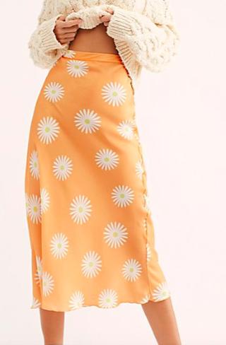 FP Kendall Satin Midi Skirt