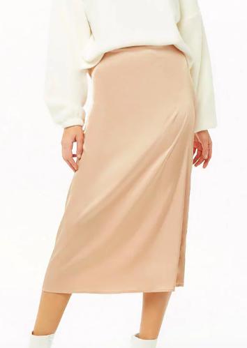 Forever 21 Satin Midi Skirt