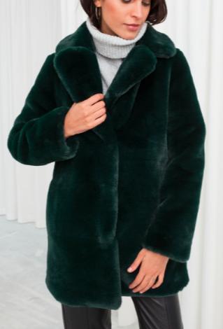 Stories Short Faux Fur Coat