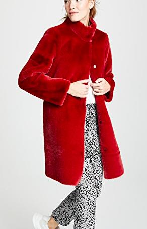 Velvet Mina Faux Fur Coat