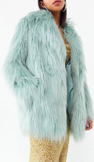 Jakke Heather Mongolian Faux Fur Coat