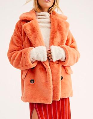 FP Solid Kate Faux Fur Coat