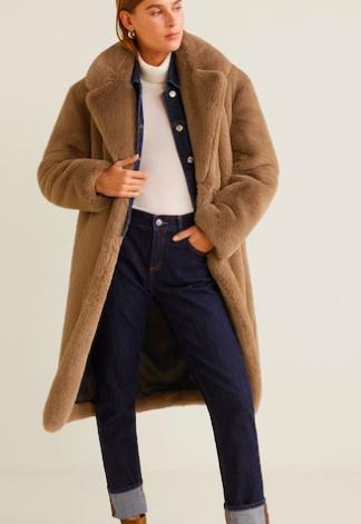 Mango Oversize faux-fur coat