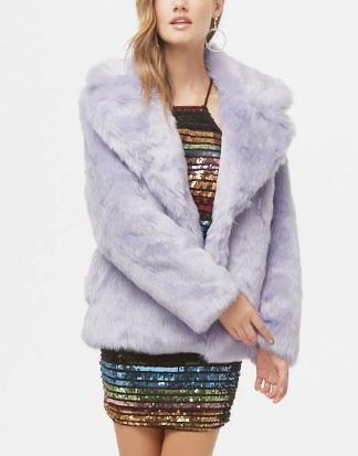 Forever 21 Oversized Faux Fur Coat