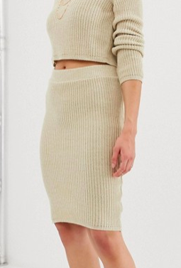 ASOS DESIGN two-piece pencil skirt in knit