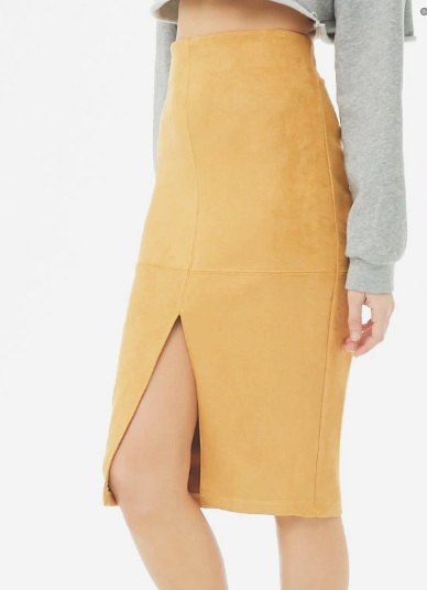 Forever 21 Faux Suede Pencil Skirt