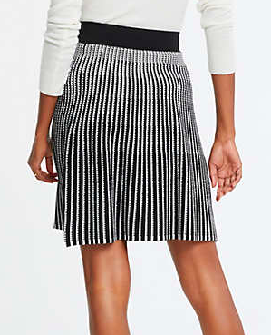 ANN TAYLOR Stitched Sweater Skirt