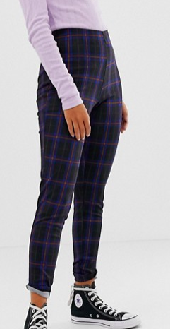 New Look leggings in blue check