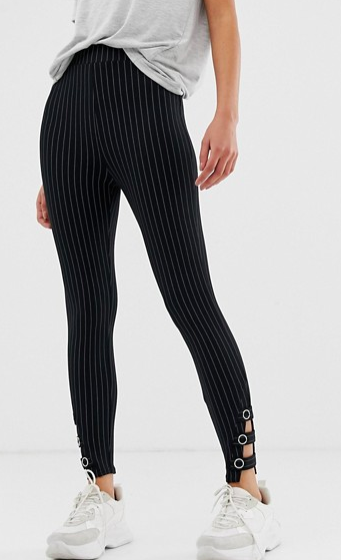 River Island leggings in pinstripe