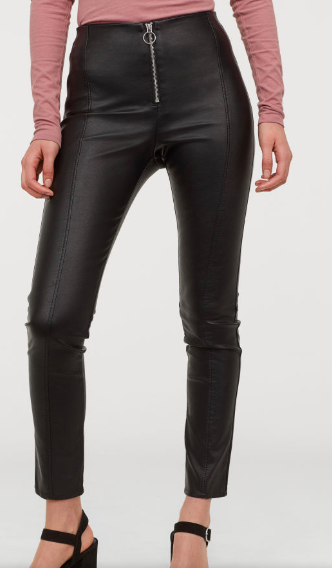 HM Faux Leather Leggings