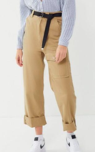 BDG High-Rise Cuffed Utility Pant