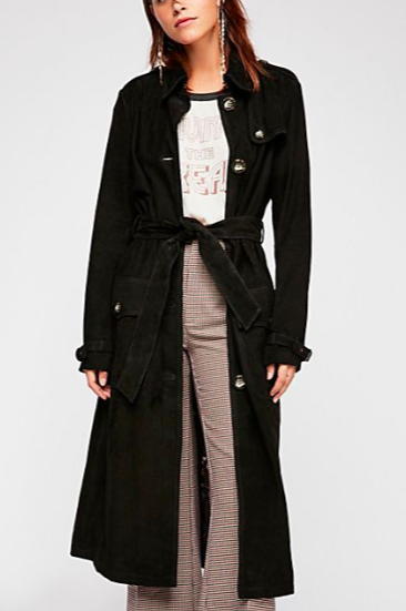 FP We The Free Larsen Suede Trench