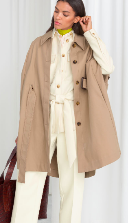 Stories Belted Trench Cape
