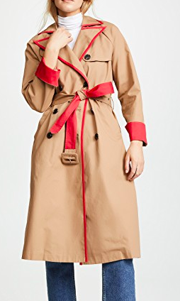 ENGLISH FACTORY Coat with Contrast Binding