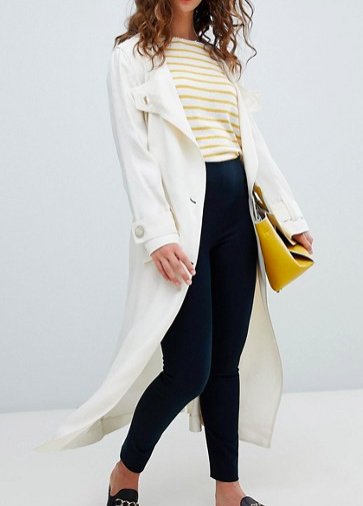 Mango premium summer trench coat in cream