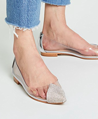 Schutz Taia Point Toe Vinyl Flats