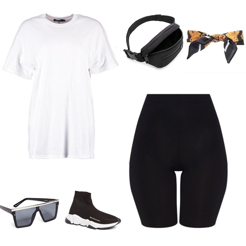 One Biker Short, Styled 3 Ways   TrufflesandTrends.com