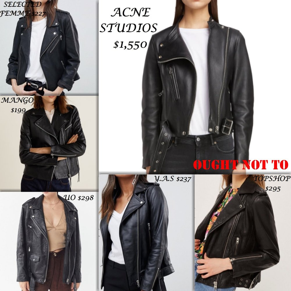 Ought Not To, Ought To: Leather Jackets | TrufflesandTrends.com