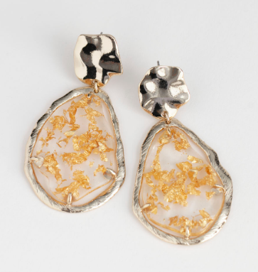 Stories Gold Flake Hanging Earrings