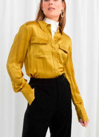 Stories Satin Workwear Shirt