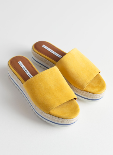 Stories Suede Platform Slides