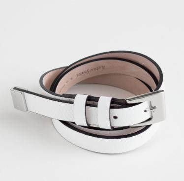 Stories Double Loop Leather Belt