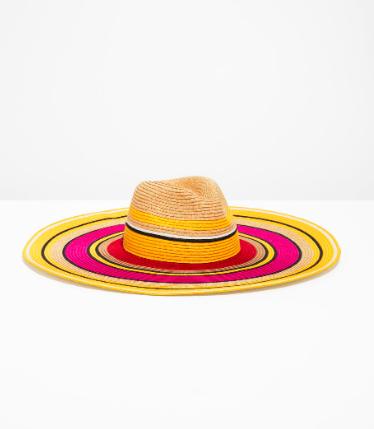 Stories Wide Brim Straw Hat