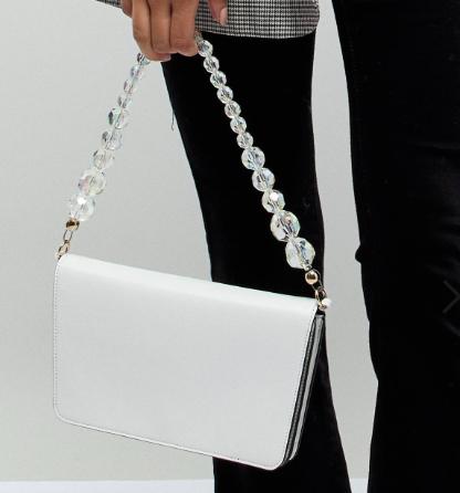 ASOS DESIGN shoulder bag with beaded strap