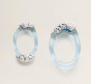 mango Asymmetric resin earrings