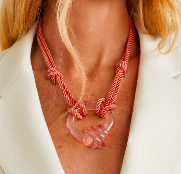 Mango Resin pendant necklace