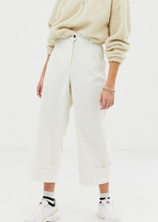 Reclaimed Vintage inspired cropped cord pants
