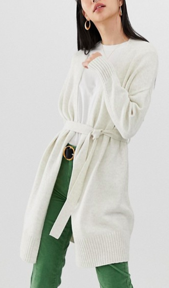 ASOS DESIGN long cardigan with belt detail