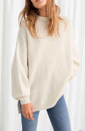 Stories Oversized Wool Blend Sweater