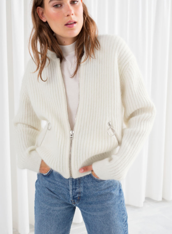 Stories Wool Blend Knit Bomber