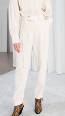 Stories Belted Tapered Trousers