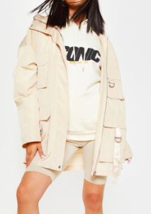 PLT STONE POCKET DETAIL OVERSIZED JACKET